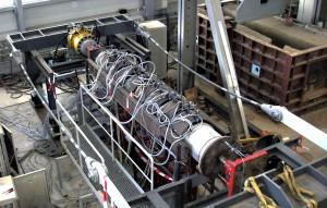 Simulation Rohrvortrieb: Modellversuch in DN 400