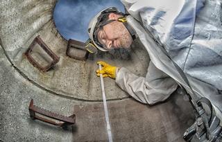 IKT Schachtprüfung Schachtsanierung Abwasserschächte Haftzug Prüfung Qualität Beschichtung Auskleidung Korrosion Sanierung Haftzugfestigkeit c 320