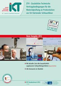 Titelseite ZTV Zusätzliche Technische Vertragsbedingungen für die Materialprüfung an Probestücken vor Ort härtender Schlauchliner