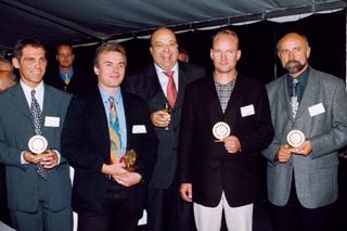 von links: Frank Klein, Arno Bauer, Roland W. Waniek (IKT), Thomas Würfel, Ryszard Piatkowski