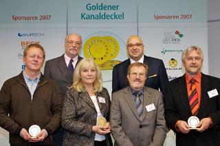 von links: Josef Wolthaus, Staatssekretär Dr. Alexander Schink (NRW-Umweltministerium), Rosi Evers, Gerhard Arend, Roland W. Waniek (IKT), Norbert Effner