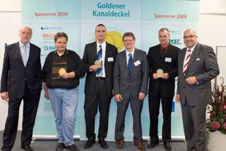 von links: Staatssekretär Dr. Alexander Schink (NRW-Umweltministerium), Stephan Ide, Stefan Müller, Heinz Brandenburg, Thomas Beiersdorf, Roland W. Waniek (IKT)