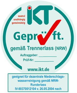 "Muster des Siegels ""IKT-Geprüft gemäß Trennerlass (NRW)"""