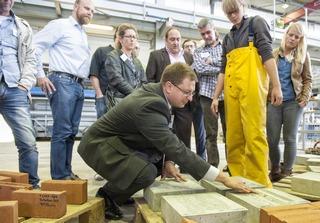 Projektleiter Markus Gillar präsentiert bisherige Prüfergebnisse