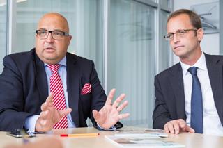 Dipl.-Ök. Roland W. Waniek, IKT-Geschäftsführer, und Prof. Dr.-Ing. Bert Bosseler, Wissenschaftlicher Leiter, im Interview
