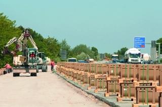 Baustelle Neubau Autobahn