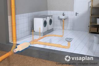 Standbild aus visaplan-Film, Einbau Rückstausicherung