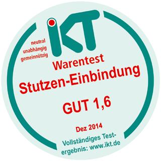 """IKT-Siegel für KATEC: Gute Leistungen im Warentest """"Stutzensanierung"""""""