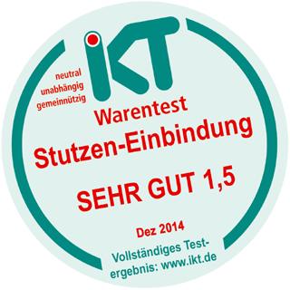 Siegel für den Sieger: Kuchem für Bestnoten im IKT-Warentest ausgezeichnet