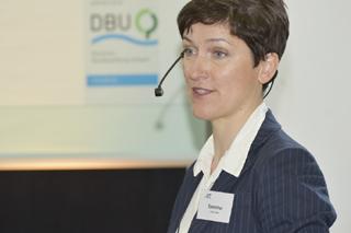 Agnieszka Speicher während ihres Vortrags
