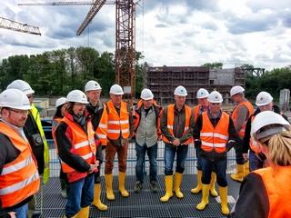 Angehende Kanalbetriebsmanager auf Europas größter Kanalbaustelle, dem neuen Emscherkanal.