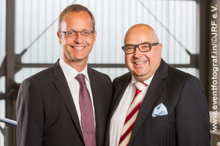Portrait Bert Bosseler und Roland W. Waniek