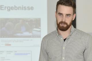 Matthias Müller während seines Vortrags