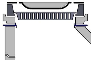 Schnittzeichnung Schacht mit Adapterring
