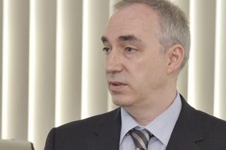Dr. Leckebusch während seines Vortrags