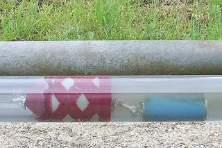 Reinigung einer Abwasserdruckleitung mit einem Molch