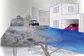 Grafik Geländemodell Starkregen