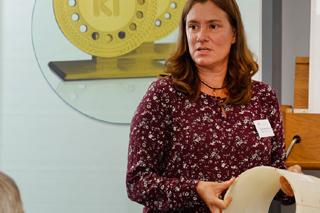 Iris Carstensen während ihres Vortrags