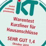 Kurzliner-Warentest: IKT-Siegel für Trelleborg
