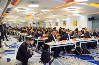 Publikum bei Vortragsveranstaltung in Nanjing, China