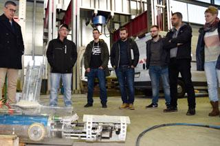 Präsentation Robotertechnik für Kanalsanierung