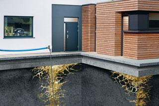 Grafik Haus und Bodeninjektion