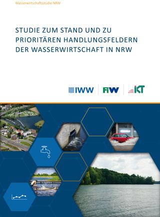Titelseite einer Studie über die Wasserwirtschaft in Nordrhein-Westfalen