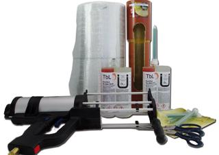 Systemkomponenten für ein Kurzliner-System zur Kanalreparatur