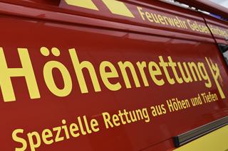 Beschriftung auf einem Einsatzfahrzeug der Feuerwehr