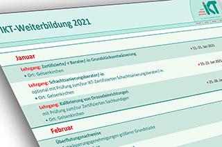 Deckblatt IKT-Weiterbildung Jahresprogramm 2021