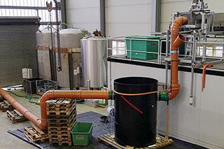 Prüfaufbau für Prüfung einer Regenwasserbehandlungsanlage nach Trennerlass NRW