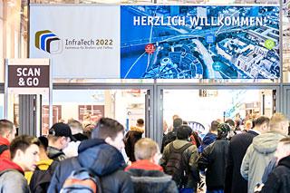Eingang zur Messe InfraTech